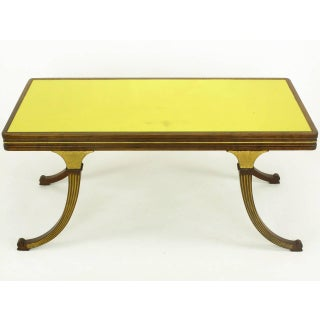 Early 1900s Parcel-Gilt and Walnut Empire Coffee Table With Gold Mirror Top Preview