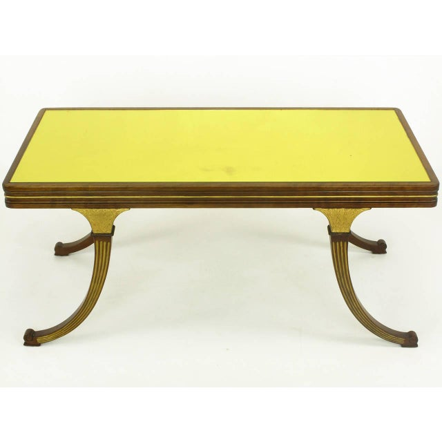 Walnut and parcel-gilt coffee table, circa early 1900s by B & S Co. a New York City fine furniture manufacturer that is no...