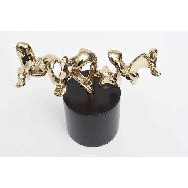 Signed Karpel Bronze Abstract Sculpture - Image 9 of 11