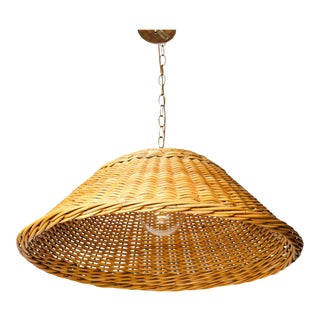 Rattan Woven Pendant Light For Sale