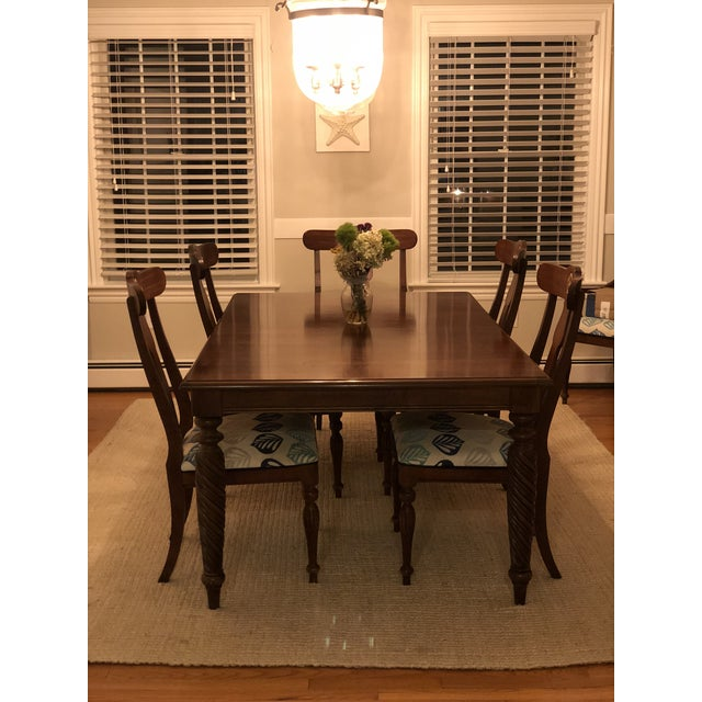 British Colonial Modern Ethan Allen British Classic Dining Set For Sale - Image 3 of 10