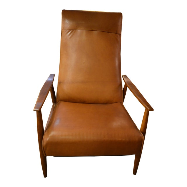 Vintage Mid Century Milo Baughman for Thayer Coggin Tighten Up Recliner Armchair Newly Upholstered For Sale