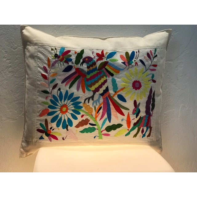 Beautiful Ethnic Mexican Tenango Hand Embroidered Pillow Cover Whimsical Fantasy Birds/Animals And Flora Theme Each Design...