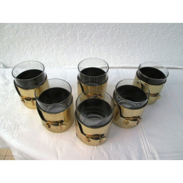Gold Buckle Double Rocks Glasses - Set of 6 - Image 3 of 7