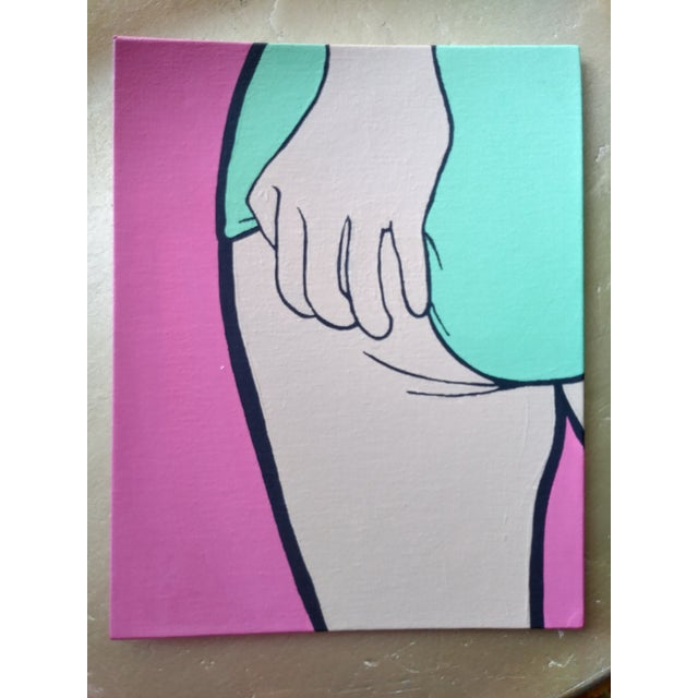 Bright and colorful original acrylic Pop Art painting. Perfect for your modern interiors, or to interject a modern piece...