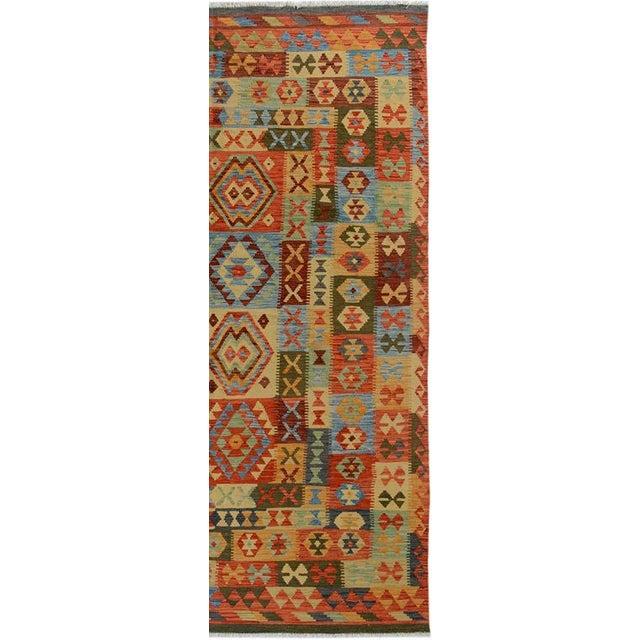 Textile Arya Darwin Gray/Rust Wool Kilim Rug - 6'6 X 9'8 A9296 For Sale - Image 7 of 7