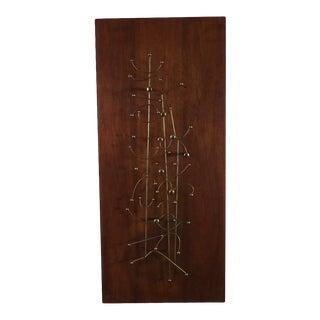 Mid Century Modern Brass Wire Wall Art For Sale