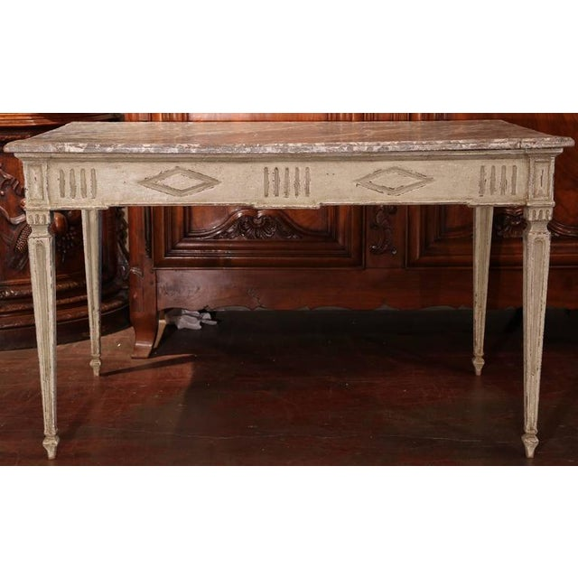 19th Century French Louis XVI Writing Desk For Sale - Image 9 of 9
