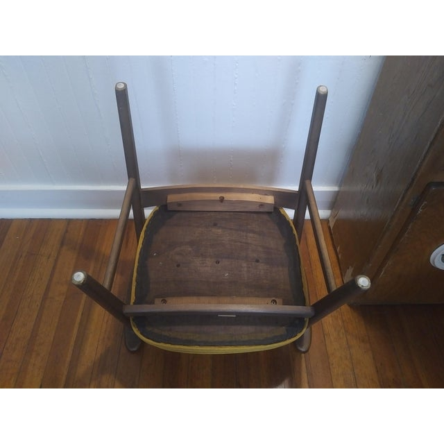 Yellow 1960s Danish Modern Paoli Yellow Padded Chair For Sale - Image 8 of 11