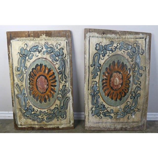 19th Century Pair of 19th Century Painted Italian Panels For Sale - Image 5 of 10