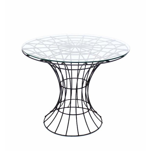 John Risley Four Pieces Welded Wire Outdoor Dining Dinette Set For Sale - Image 10 of 10