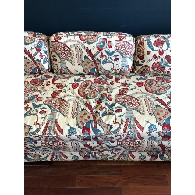 Vintage 1970s Down Sofa in Fabulous Print Upholstery For Sale - Image 12 of 13