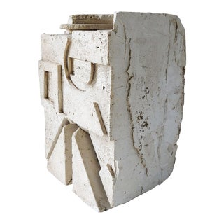 Plaster Abstract Sculpture For Sale
