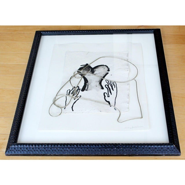 Contemporary 2002 Contemporary Framed Mixed Media Painting For Sale - Image 3 of 8
