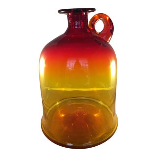 Amberina Art Glass Jug For Sale