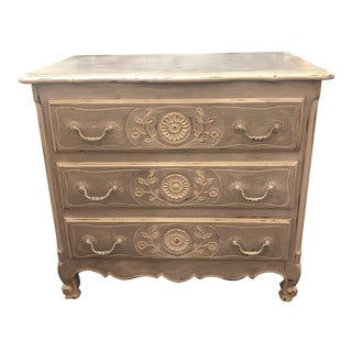 Vintage French Country Painted Cabinet