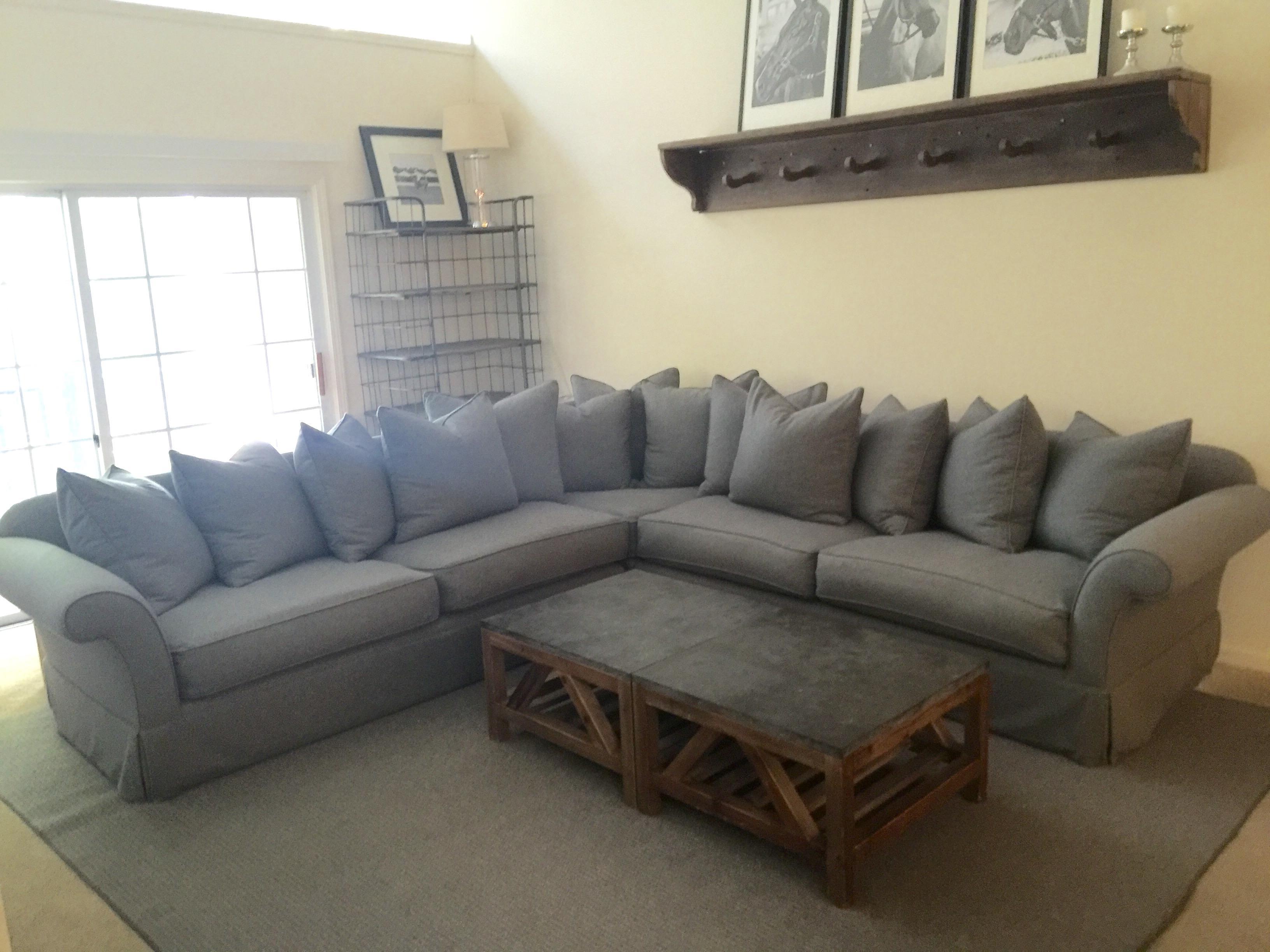 Ralph Lauren Gray Wool Flannel Sofa   Image 5 Of 5