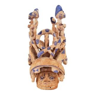 Large Hand-Carved Gelede African Society Mask / Sculpture