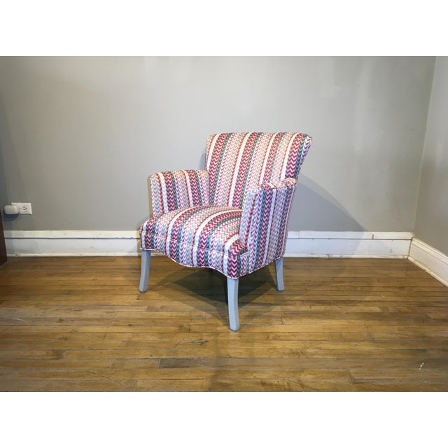 Vintage Mid Century Petite Armchair For Sale In Chicago - Image 6 of 8