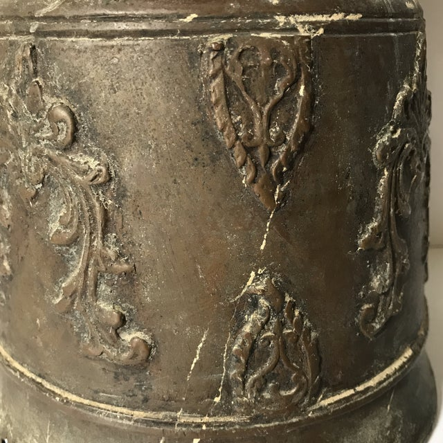 Islamic Antique Bronze Morrocan Rain Drum Stool For Sale - Image 3 of 5