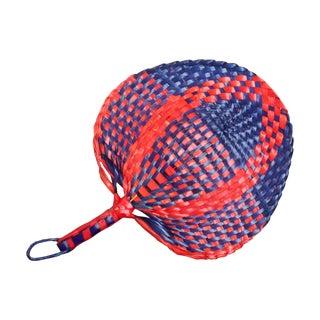 Red & Blue Woven Fan