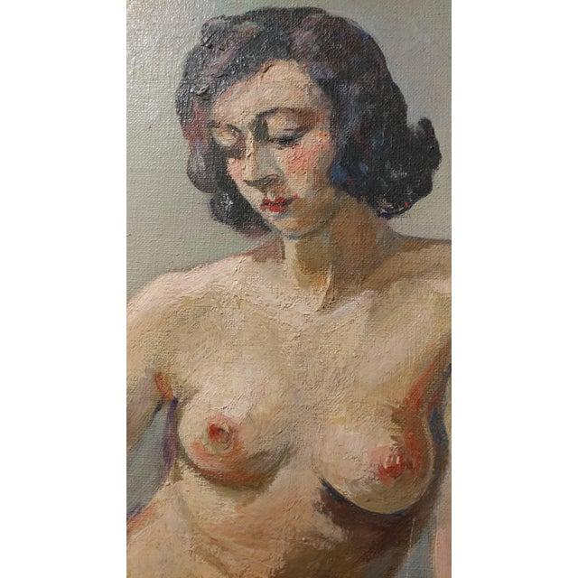 Ismael De La Serna - Mujer Desnuda Mid-Century Oil Painting For Sale - Image 4 of 10
