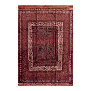 """Tribal Afghan Rug, 6'9"""" X 9'10"""" For Sale"""