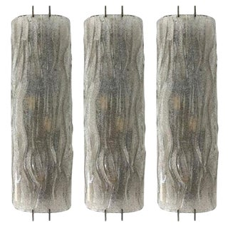 Curved Sconces by Mazzega (3 Available) For Sale