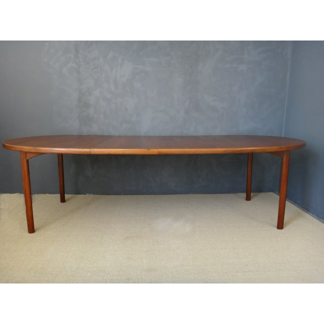 Dux Danish Modern Oval Teak Dining Table - Image 5 of 7