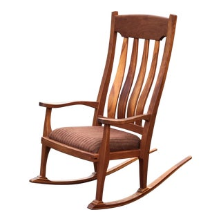 Vintage Mid Century Studio Crafted Rocking Chair For Sale