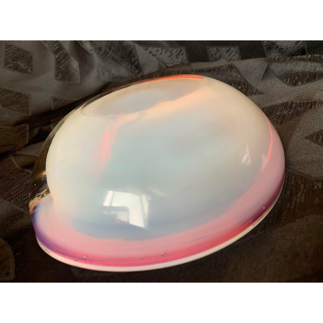 Seguso Italian Pink and Opaline Cased Heavy Art Glass Bowl For Sale - Image 11 of 13