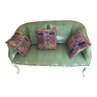 1950s French Contemporary Guatemala Green Goddess Loveseat