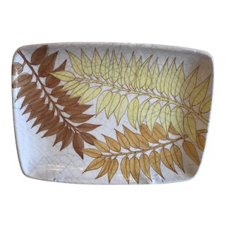 Mid-Century Hand Painted Italian Majolica Platter For Sale