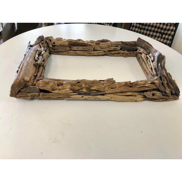 Handcrafted Reclaimed Botany Bay Driftwood Frame For Sale - Image 4 of 6