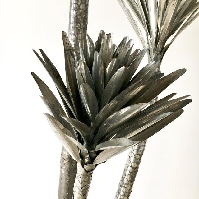 Mid-Century Modern Metal Palm Tree Floor Standing Sculpture 1970's For Sale - Image 3 of 7