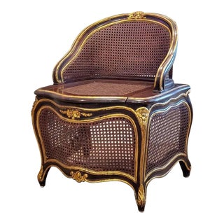 19th Century French Louis XV Gilt Mahogany Chaise Percée For Sale