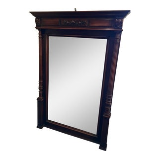 1940s Vintage Federal-Style Mantel Mirror For Sale