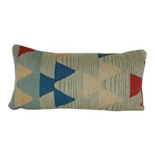 Vintage Turkish Kilim Lumbar Pillow For Sale