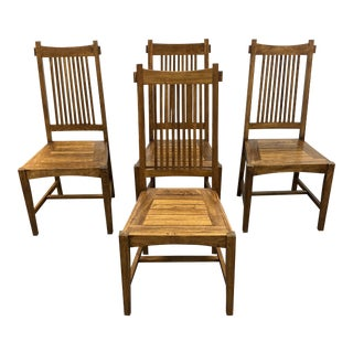 Wooden Duck Craftsman Style Side Chairs - Set of Four For Sale