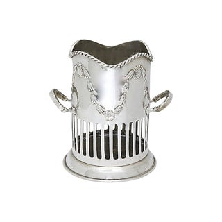 Antique English Silver-Plate Wine Caddy For Sale