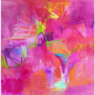 """""""Sparks Fly"""" by Trixie Pitts Large Abstract Expressionist Oil Painting For Sale"""
