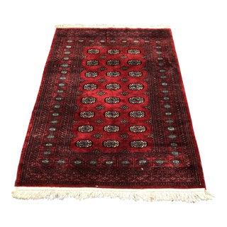 """Pakistani Bokhara Wool Rug - 4' x 5'8"""""""
