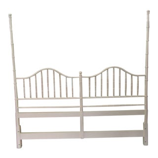 Faux Bamboo Tall 2 Poster King Headboard For Sale