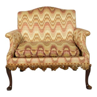 19th Century Queen Anne Style Mahogany Settee For Sale