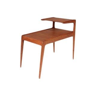 Danish Teak Two-Tier Side Table