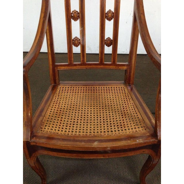 Antique Carved Walnut Armchair - Image 6 of 6