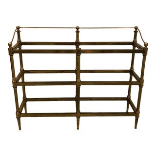 Vintage Italian Brass & Glass Etagere For Sale