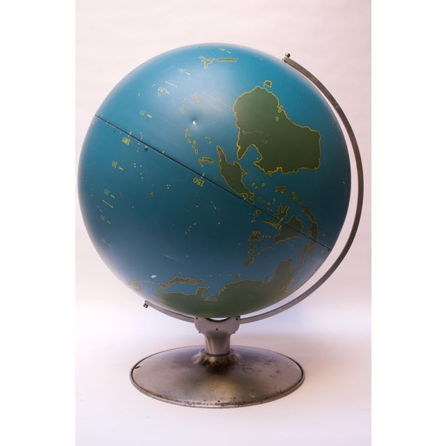 A.J. Nystrom Large-Scale Vintage Military Globe / Activity Globe by a.j. Nystrom For Sale - Image 4 of 13