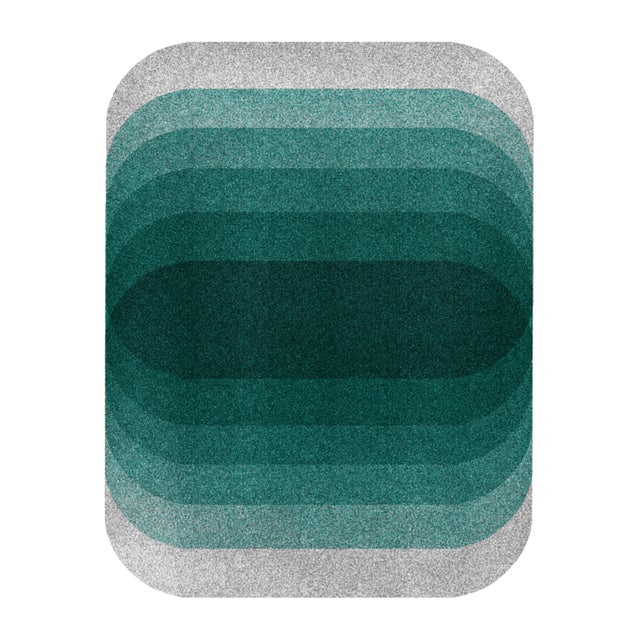 """Color Space Series 26.2: Deep Teal & Soft Gray"" Abstract Print - Image 4 of 4"