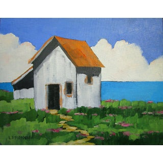 North Coast Cottage Pacific Meadow Ocean View Landscape Lynne French For Sale
